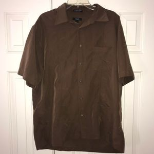 2/$18 EUC Alfani Button Down S Sleeve Shirt Size L